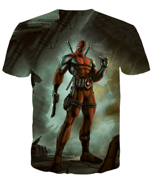 Deadpool Classical 3D Printed Shirts