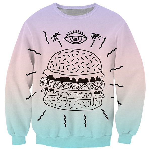 Burger With A Third Eye Shirts