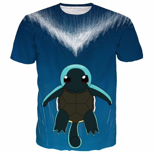 Squirtle Sad 3D Printed Shirts