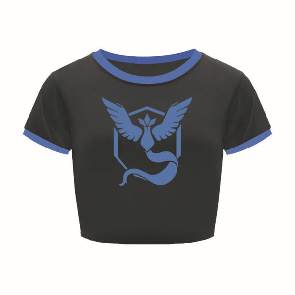 Team Mystic Crop Top Shirts