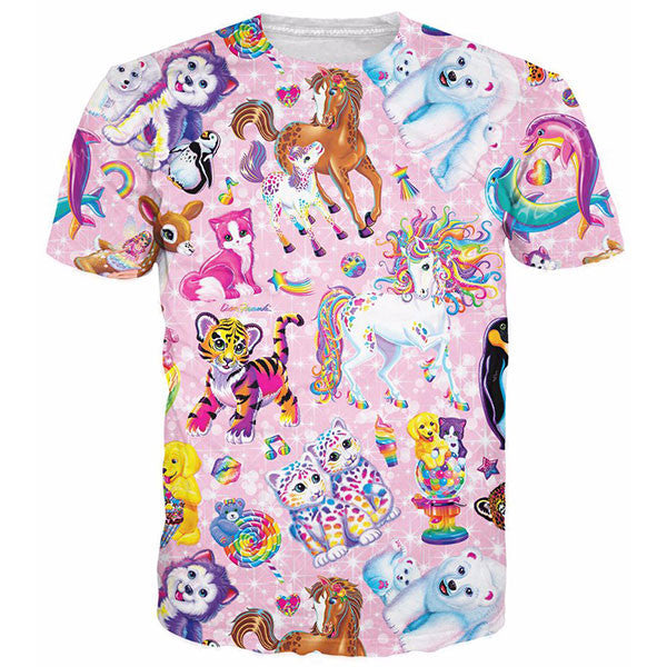 Cute Tiger Kitty Cat Horse Polar Bear Rainbow Shirts