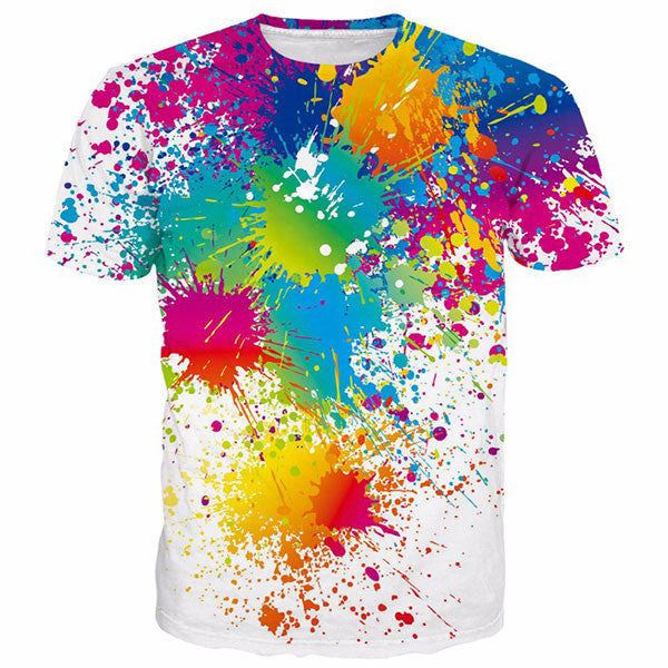 Paint Splatter 3D Shirts