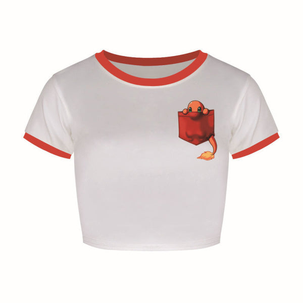 Charmander Crop Top Shirts