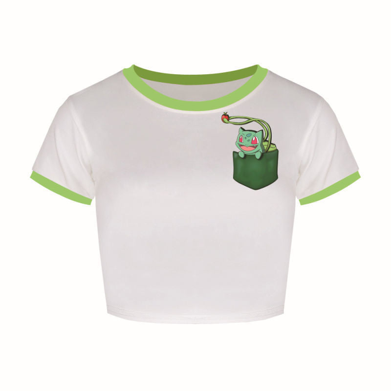 Bulbasaur Crop Top Shirts