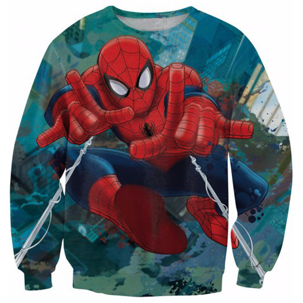 Spider Man Action Printed Shirts