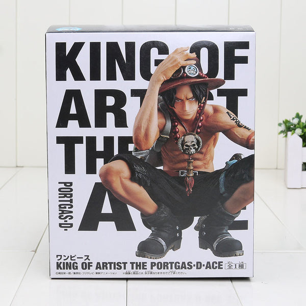 Anime One Piece King Of Artist Portgas D Ace PVC Toy