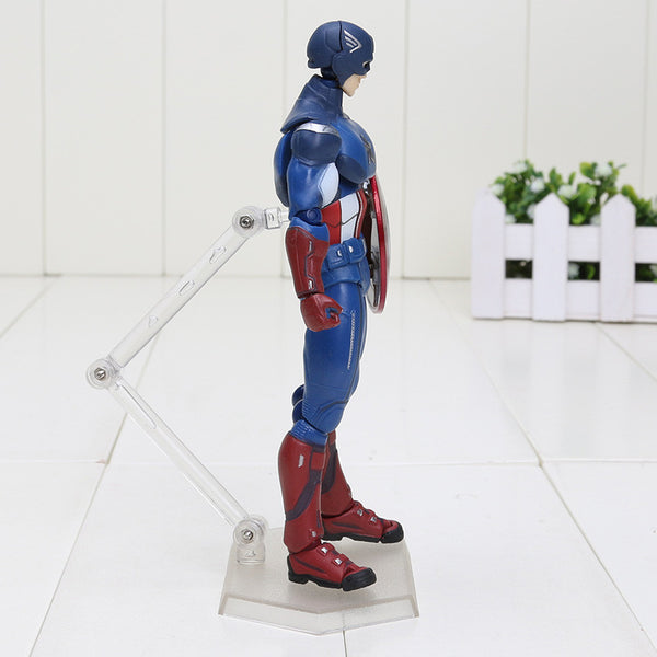 Super Hero The Avengers Figma 226 Captain America PVC Toy