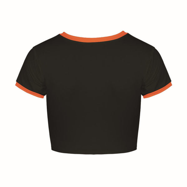 Team Fire Crop Top Shirts
