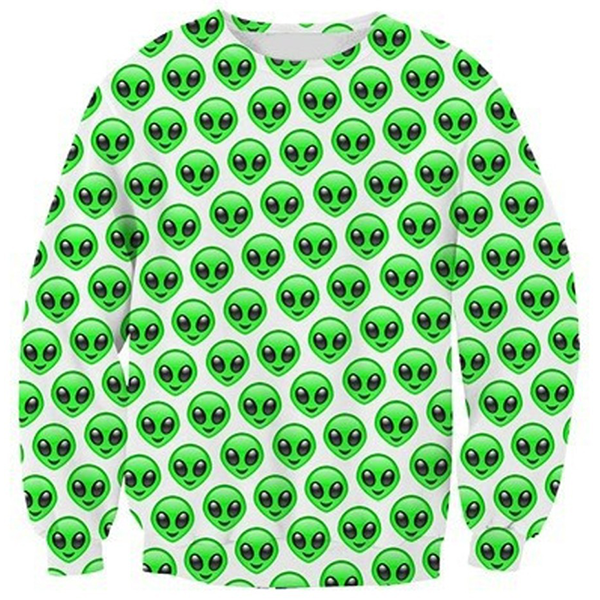 Green Alien Skull Emoji Shirts