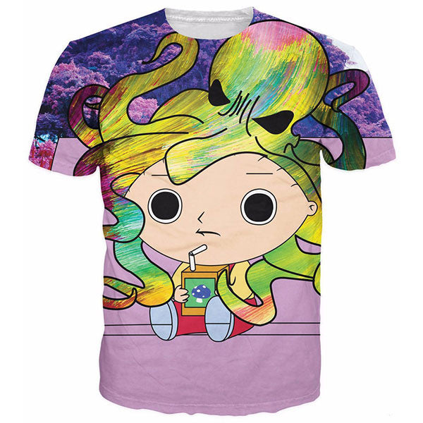 Stewie Tripping And Octopus Shirts