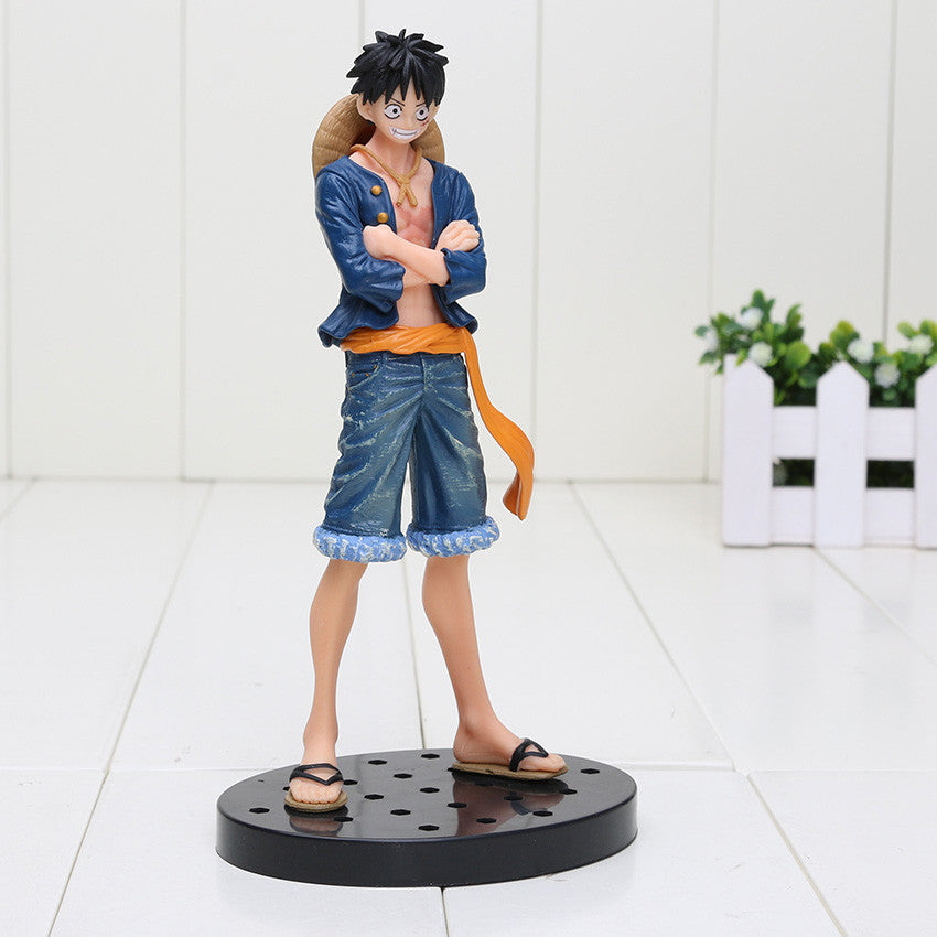 Anime Monkey D Luffy DXF Brotherhood Jeans Freak PVC Toy