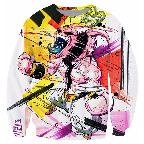 Graffiti Kid Buu White 3D Printed Shirts