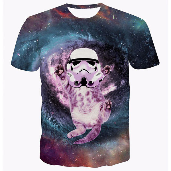 Cute Cat Trooper Galaxy Shirts