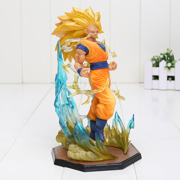 18cm Anime Dragon Ball Z Super SaiYan 3 Son Goku PVC Toy