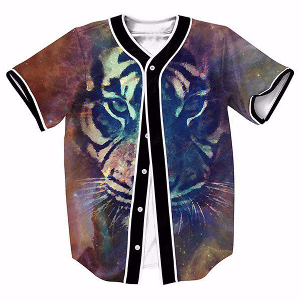 Color Tiger Printed New Shirts