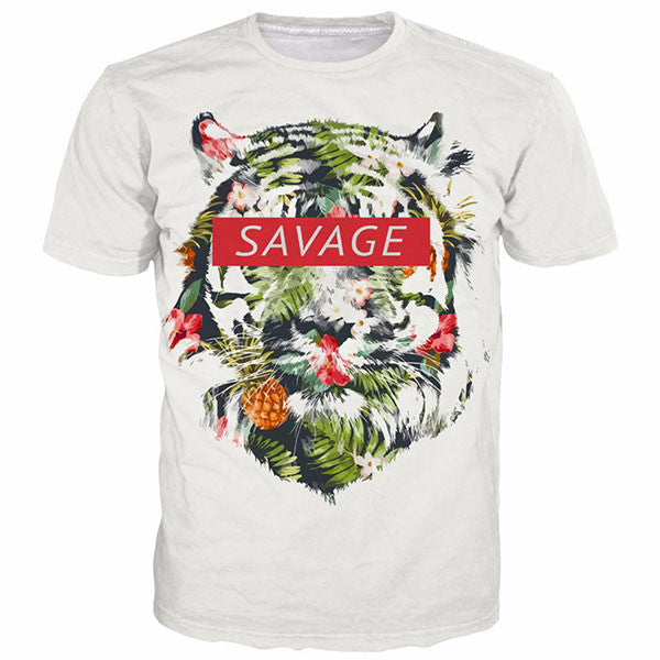 Savage Tiger 3D Shirts