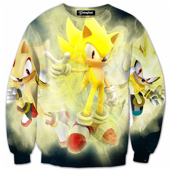 Super Sonic 3D Printed Shirts