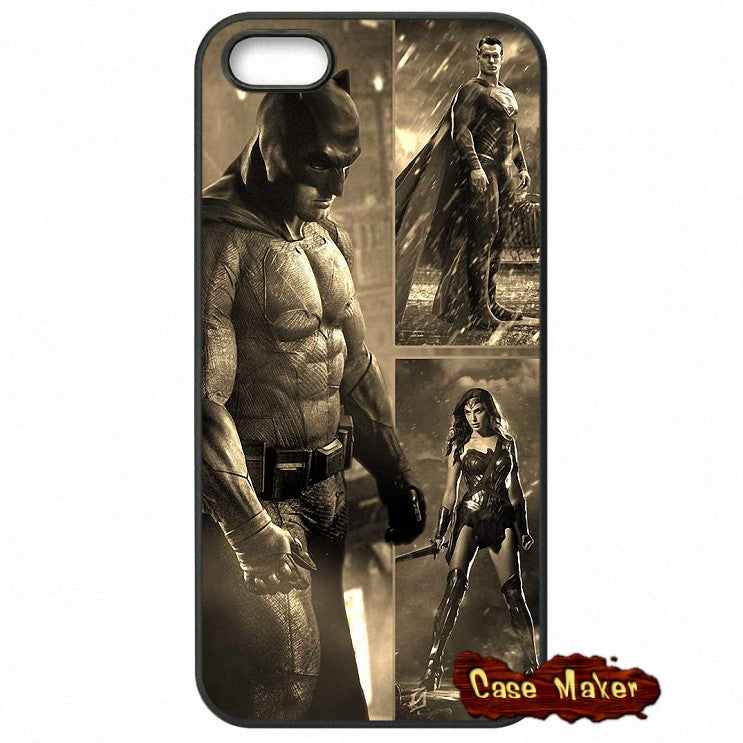Batman VS Superman Dawn Of Justice Drawing Phone Case