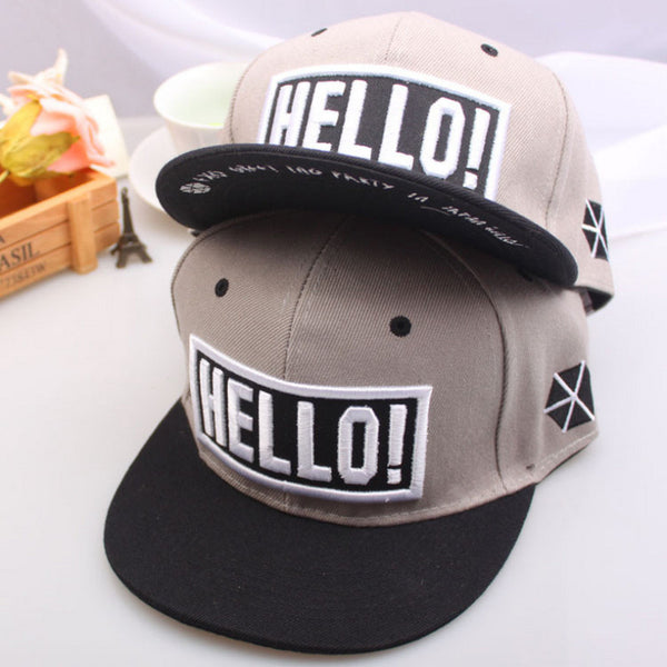 Hello Embroidered Hat