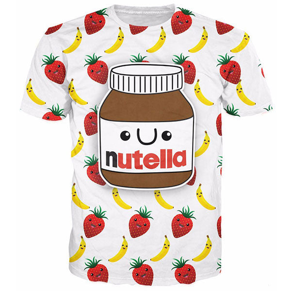Strawberries And Bananas 3D Print Shirts