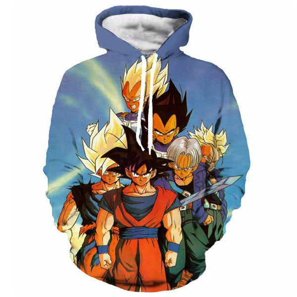 Goku And Vegeta And Trunks 3D Shirts