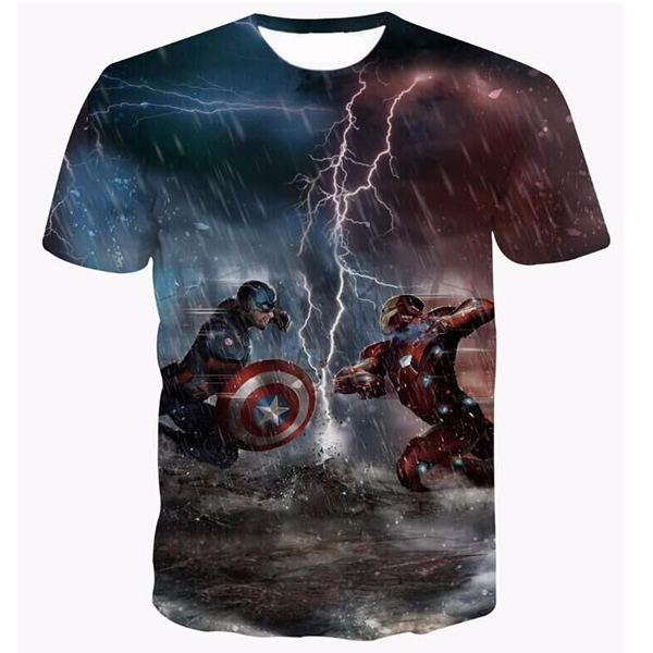 Captain America And Iron Man Shirts