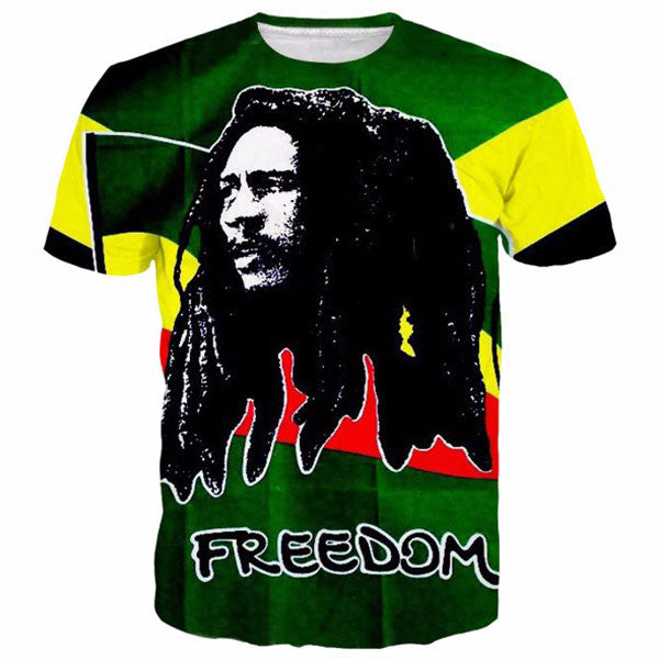 Bob Marley Song Of Freedom 3D Shirts