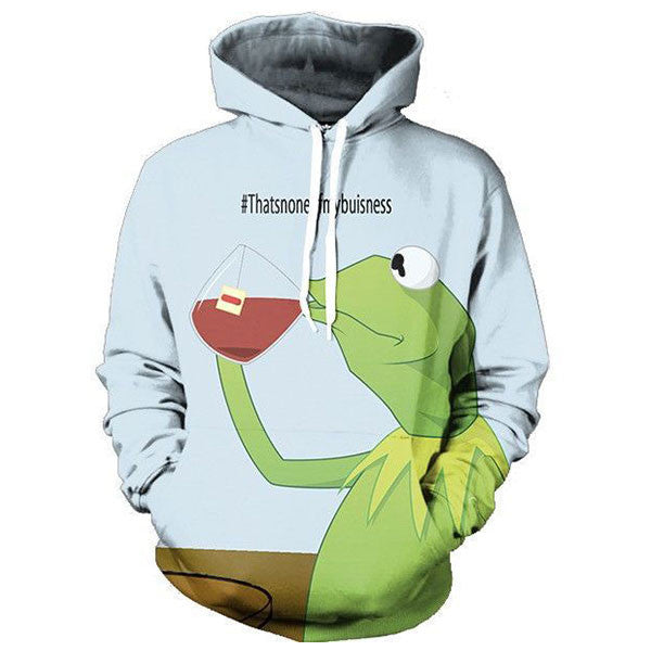 Funny Frog Drinking 3D Shirts