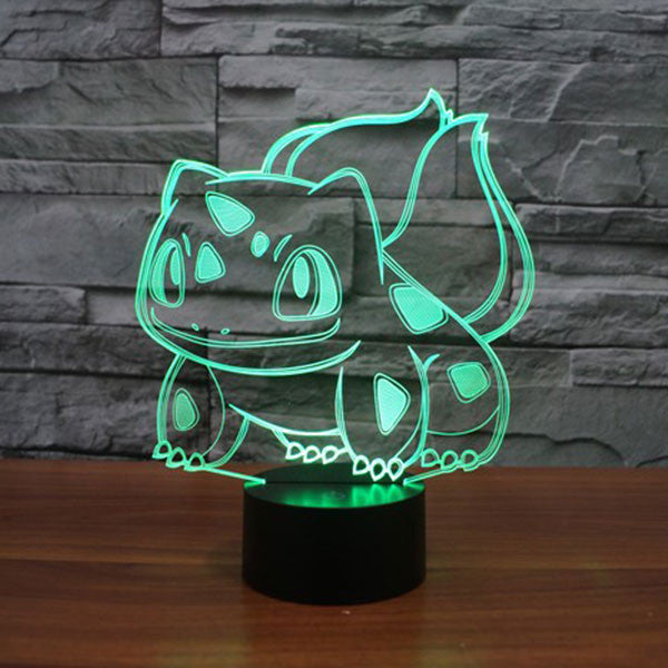 Bulbasaur 3D LED 7 Colors Lamp