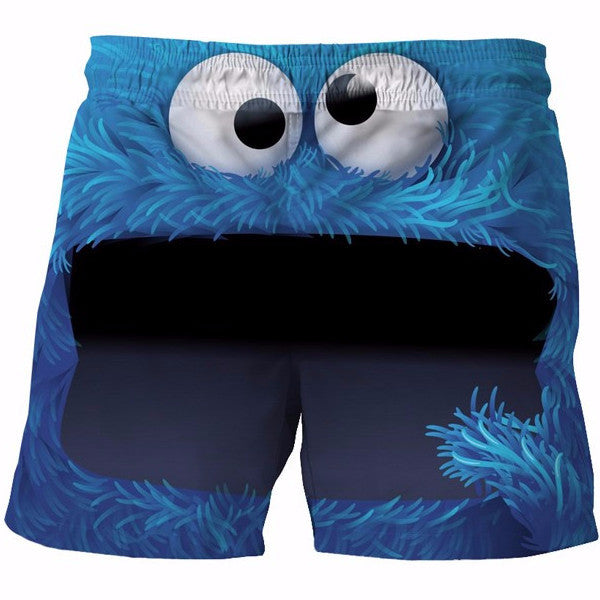 Cute Cookie Monster Shorts