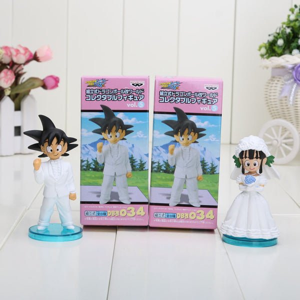 2pcs/set Dragon Ball Z Goku ChiChi Wedding Toy