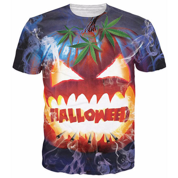Halloween Weed Prints Shirts