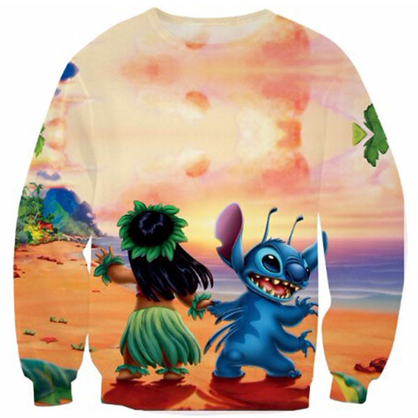 Lilo And Stitch On The Beach Shirts