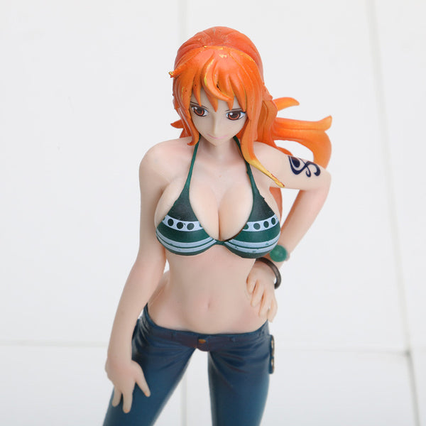 Anime One piece Nami Blue Big One New World PVC Toy