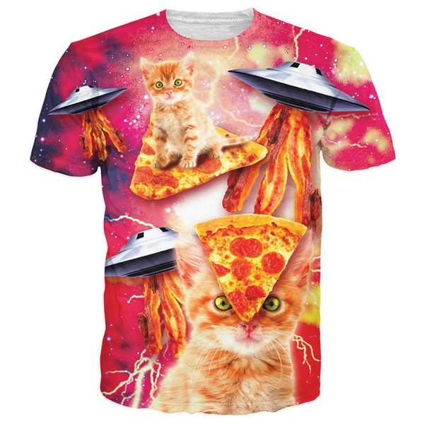 Pizza Cat 3D Printed Shirts