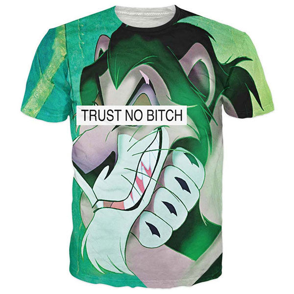 Trust No Bitch Scar King Lion Shirts