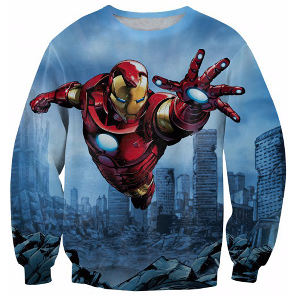 Iron Man Fly Printed Shirts