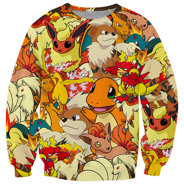 3D Fire Pokemon Monster Shirts