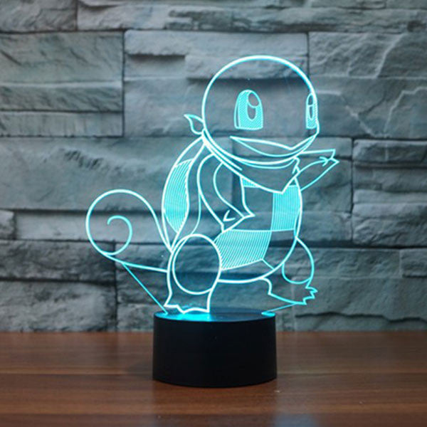 Squirtle 3D LED 7 Colors Lamp