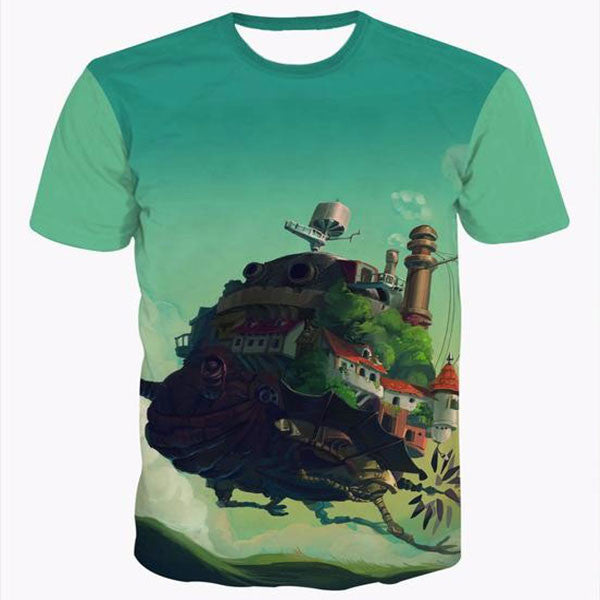Castle In The Sky 3D Shirts