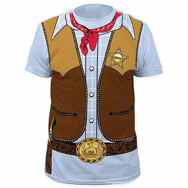 Funny Cosplay Costume Cowboy 3D Shirts