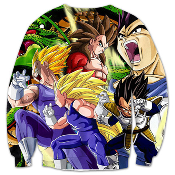 Vegeta All State 3D Printed Shirts