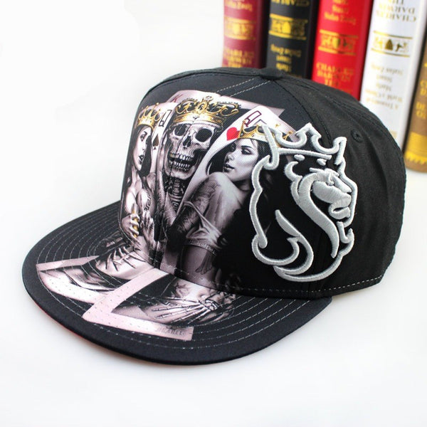 Skull Pattern Baseball Hat