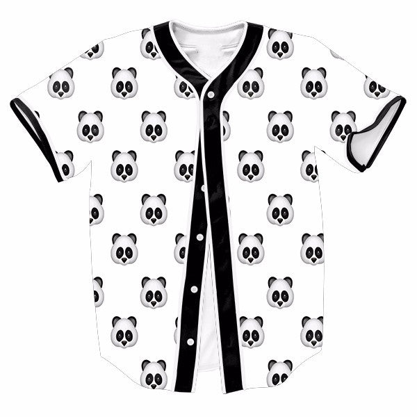 Cute Panda Emoji Black And White New Shirts