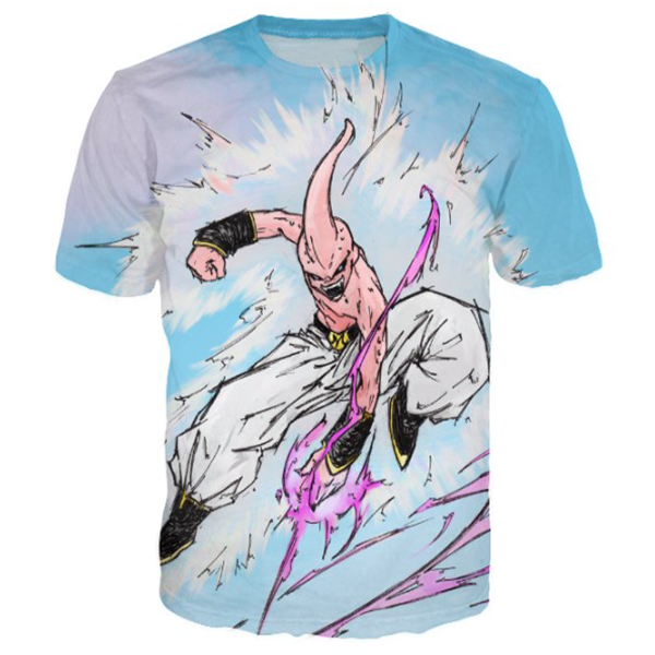 Kid Buu Devil 3D Printed Shirts