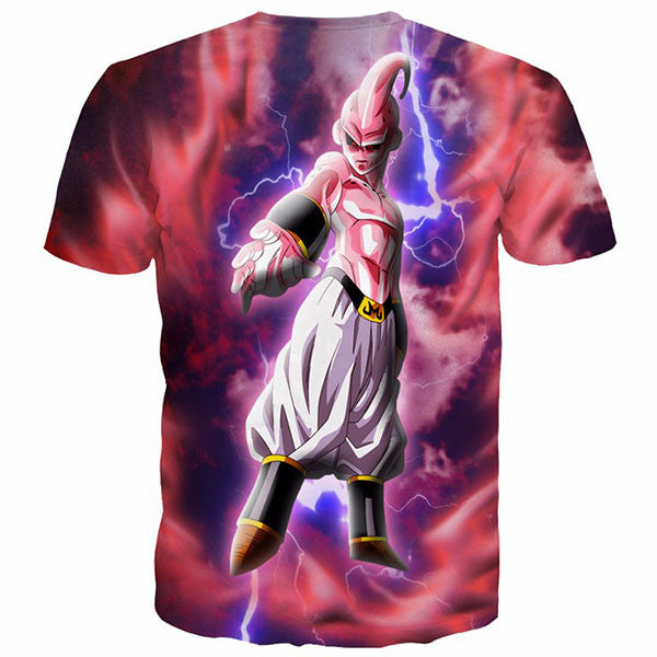 Kid Buu Lightning 3D Printed Shirts