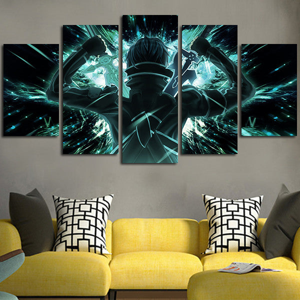 Sword Art Online Kirito Wall Art Canvas