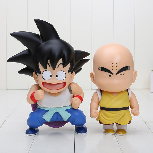 2pcs/set Dragon Ball Z Goku Kuririn PVC Toy