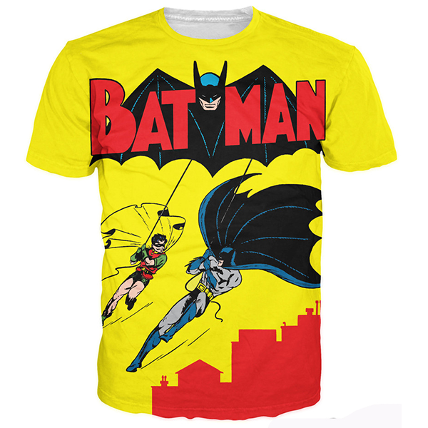 Retro Batman Printed Shirts