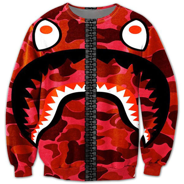 Red Shark Big Teeth Shirts